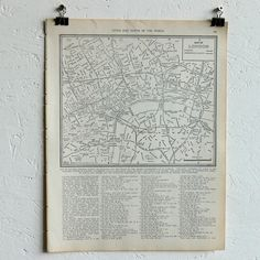 Vintage Map Of London