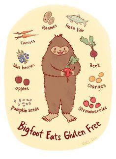 Bigfoot Eats Gluten Free