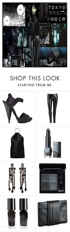 """Tokyo Noir."" by lillian-pandola ❤ liked on Polyvore featuring Ÿù, American Eagle Outfitters, Gucci, Wet Seal, KaufmanFranco, NYX, Anna e Alex, Givenchy, The New Black and mariaLamanna"