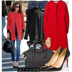 Get the look: Oliva Palermo in red coat :) by katijaa on Polyvore