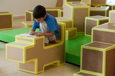 Genius and simple indoor play blocks. Will have to think about making some too :)