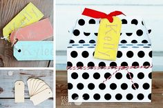 Cyber Monday Deal...Tag Along - Wooden Tags 8 Pack