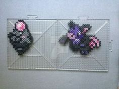 #325-#326 Spoink and Grumpig Perlers by TehMorrison