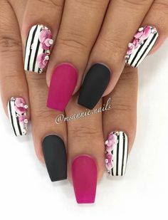 Unordinary Classy Nail Designs Ideas - Page 31 of 56 - ladynailstyle Classy Nails, Fancy Nails, Love Nails, My Nails, Spring Nail Art, Spring Nails, Summer Nails, Fabulous Nails, Gorgeous Nails