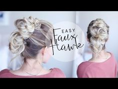 Easy Faux Hawk Tutorial | For Everyday - YouTube