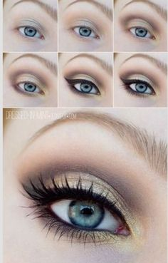 Beautiful and simple eye makeup idea!