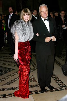 "Anna Wintour with Manolo Blahnik at Fashion International Presents the 19th Annual Night of the Stars Honoring ""The Provocateurs: Those Who Dare"" in New York City."