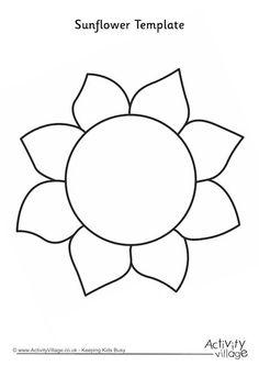 Sunflower template 2