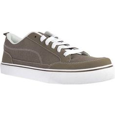 Faded Glory Men's Canvas Skate Shoe, Size: 8, Beige