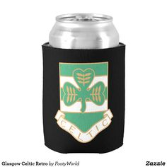 Shop Glasgow Celtic Retro Can Cooler created by FootyWorld. Celtic Fc, Personalised Blankets, Holiday Photo Cards, Retro Design, Nursery Wall Art, Glasgow, Drink Sleeves, Art For Kids, Wedding Gifts