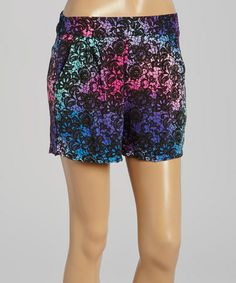 Loving this Purple Rainbow Lace Shorts on #zulily! #zulilyfinds