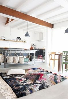 A Gallery of Beautiful Rooms with Moroccan Boucherouite Rugs | Apartment Therapy