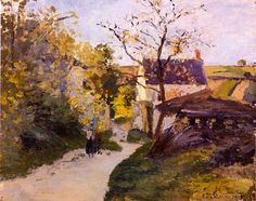 The Large Walnut Tree at Hermitage - Camille Pissarro, 1875