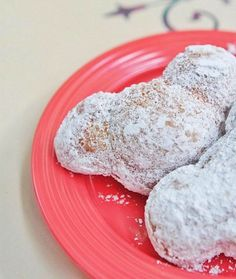 Mickey Beignets at Café Orleans, New Orleans Square, Disneyland