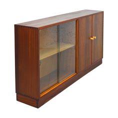 Mid Century Walnut Display/Bookcase by Morris of Glasgow
