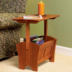 Magazine Rack/Table Woodworking Plan from WOOD Magazine
