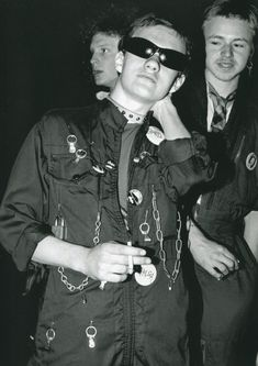 Punks at a Stranglers gig at the Roundhouse photographed by Sheila Rock, 1977