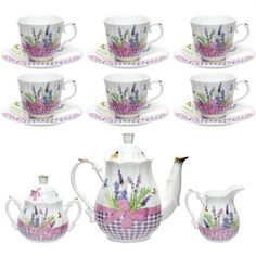 LavlovteasetOzsalectsl0301 China Tea Cups, Teapots And Cups, Coffee Set, Tea Sets, Fine China, Backyard Landscaping, Tea Time, Branding Design, Goodies
