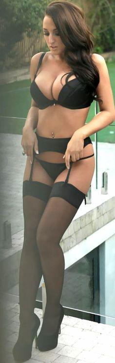 girls in stockings & suspenders