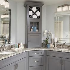 The vanity can define your bathroom space. Since bathrooms are usually separate from the rest of your home, you can deviate from your typical style. When choosing your vanity, consider size, color, finish, hardware, and storage. Click for our complete vanity buying guide.