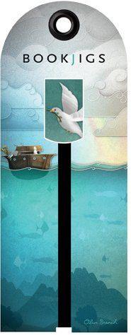 "Bookjig Bookmark: ""Olive Branch"" - metal dove"