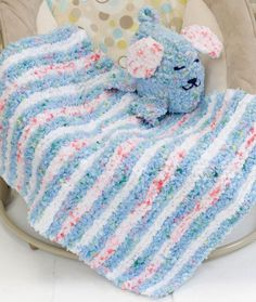 Baby Blankie & Puppy Pal Knitting Pattern | Red Heart