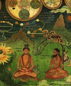 Tantric Mural Detail from the Dalai Lama's Secret Temple at Lukhang via Magic Transistor