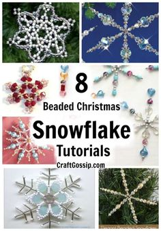 These beaded snowflakes are a great little craft project to keep you busy on winter nights, sit by the fire, the tv and thread beads whilst enjoying a Hallmark Christmas movie.  Have I set the scene? These snowflakes are all … Read More... Crafty Christmas Gifts, Christmas Crafts For Kids To Make, Christmas Gift Tags, Kids Christmas, Handmade Christmas, Christmas Stuff, Ornament Crafts, Tree Crafts, Diy Ornaments