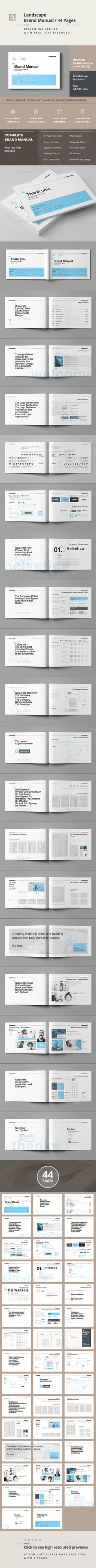Brand Manual  Editor Corporate Design And Design Templates