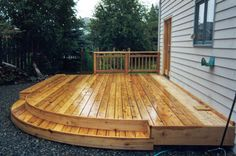 Only with a deeper rise on the step and for the curve to come into the deck with a gravel patio completing the circle. So it's almost exactly what I want! Outside Living, Outdoor Living, Outdoor Decor, Hot Tub Pergola, Steel Pergola, Pergola Patio, House Deck, Decks And Porches, Diy Deck