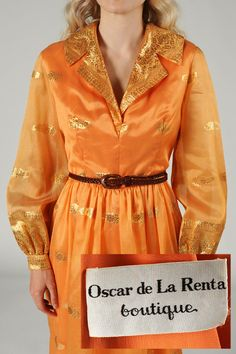 1970s Oscar de la Renta Bohemian Dress