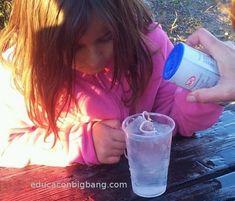 pesca cubitos de hielo con una cuerda y sal Diana, Educational Activities, Ice, Cubes, Twine, Fishing, Science