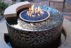 The Allure of the Flame - traditional - landscape - las vegas - Laguna Pool & Spa