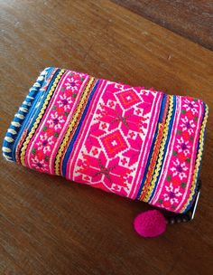 Vintage Hmong Fabric embroidered Purse Wallet by KutchiKooTribe