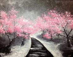 SOLD OUT! Pretty in Pink - Mason, OH Painting Class - Painting with a Twist
