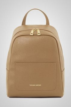 8e8d7a0e59 Soft and supple Saffiano leather is used to create the perfect backpack.  The finest artisans.