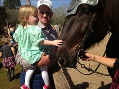 My Daughter and her Grandfather pet one of the jousting horses at Sherwood Forest Faire  http://thewiseserpent.blogspot.com/2015/02/sherwood-forest-faire-2015.html