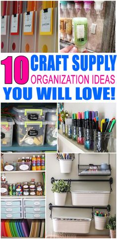 Craft Supply Organization! Get the best ideas to organize and store your craft supplies. Great DIY ideas that are perfect for small spaces, craft rooms and more. Organizing idea hacks to keep you clutter free and tidy. Ideas for kids, parents or any crafty person. Get the best craft supply organization ideas now! #organization #storage #crafts