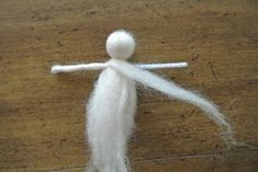 how to make a fairy with wool roving