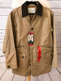 NWT ORVIS Mens Barn Jacket Size M Heavy Cotton Quilted Saddle Brown NEW #Orvis #BasicJacket