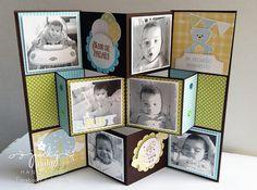 handmade card/Mini Álbum ...  Acordeón Pop Up ... photos ... video tutorial at the blog ...