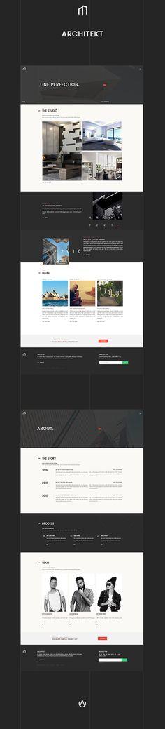 ARCHITEKT - Architecture Bootstrap Template • Download theme ➝…