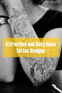 35 Attractive and Sexy #Rose #Tattoo #Design Ideas