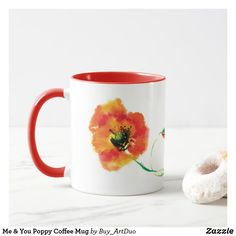 Shop Me & You Poppy Coffee Mug created by Buy_ArtDuo. Paper Napkins, Paper Plates, Red Poppies, Red Flowers, Treat Yourself, Make It Yourself, Kitchen Collection, Kitchen Items, Little Red