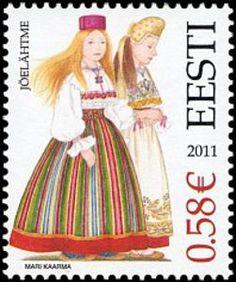 Issued in 2011, Estonia - costume