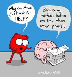 The award yeti Funny Cartoons, Funny Comics, Funny Humor, Heart And Brain Comic, The Awkward Yeti, Akward Yeti, Funny Cute, Hilarious, Take A Smile
