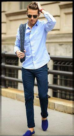 ef9ad9b4 zapatos azules outfit ideas para como combinar zapatos azules Asesoria,  Moda Urbana, Estilo De