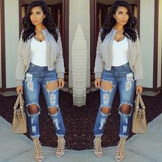 @itsmsmonica in HMS jeans Available at HotMiamiStyles.com - search: P767