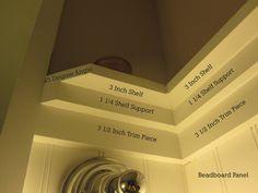 Main Bathroom Shelf Detail above beadboard