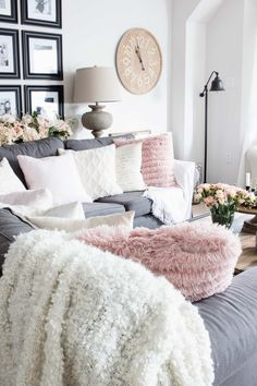 45 Best Blush And Grey Living Room Images Home Decor Houses